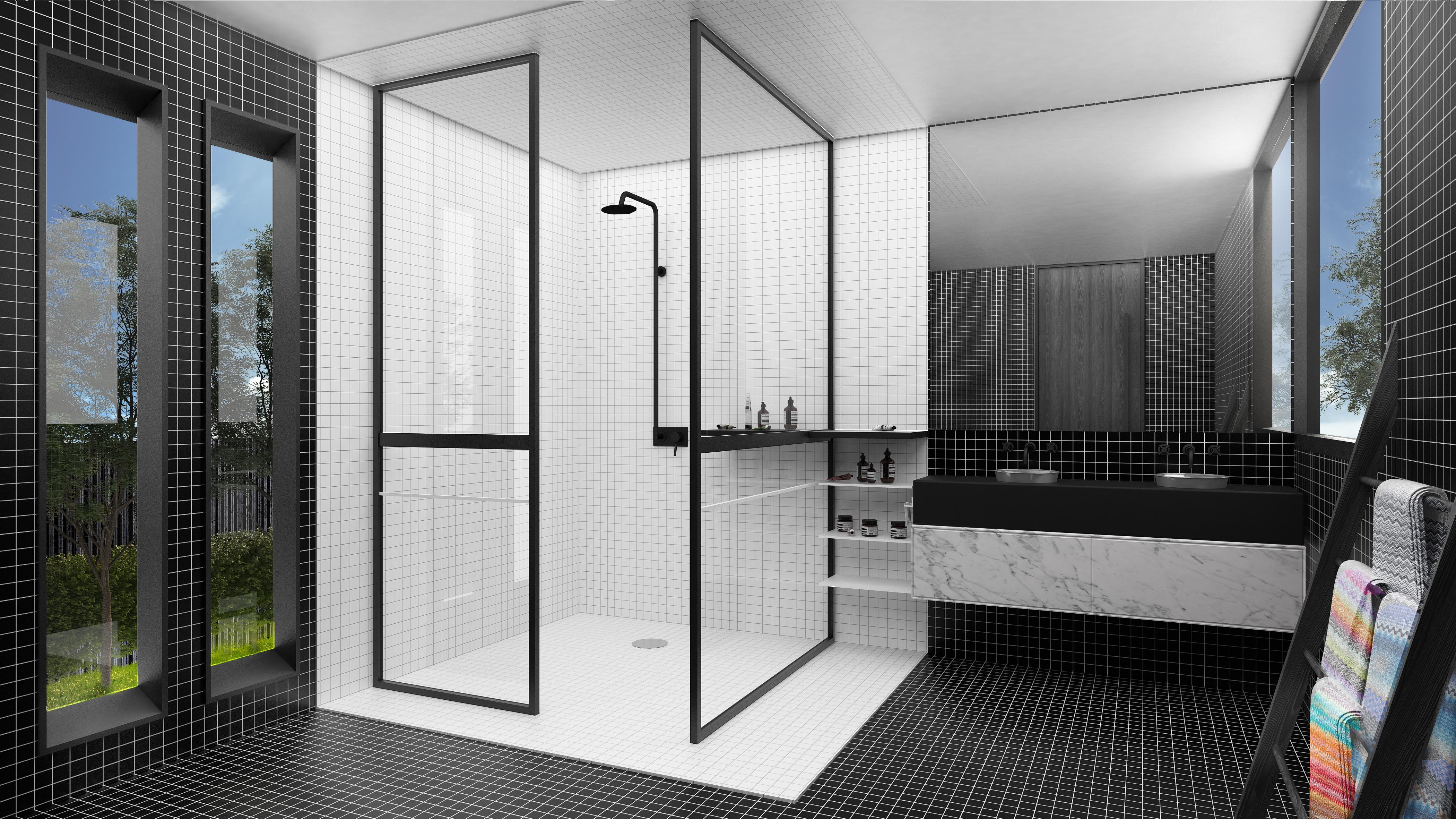 Steel Framed Showers - Steel Shower Screens Australia